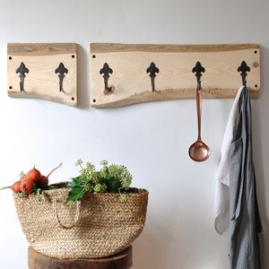 Country Cottage Two Piece Coat Hook - hooks, pegs & clips