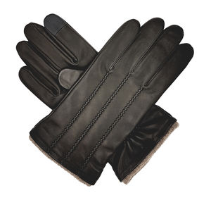 Denham, Men's Cashmere Lined Leather Touchscreen Gloves