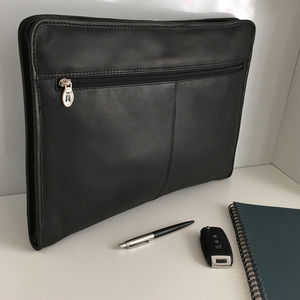 Black Leather Portfolio, Document Holder