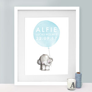 New Baby Elephant Print - posters & prints
