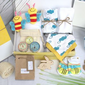 Unisex Bumble Bee Pamper Hamper For Mother And Baby - gift sets