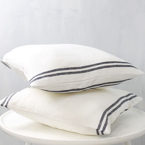 Linen Stripe Cushion Cover - cushions