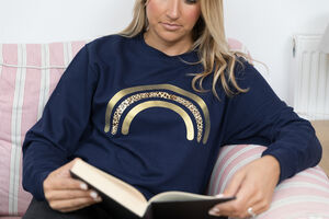Ladies Leopard Rainbow Sweatshirt
