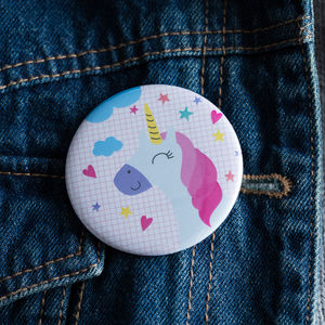 Unicorn Party Bag Gift Badges - pins & brooches