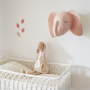 Sleepy Elephant Head - decorative accessories