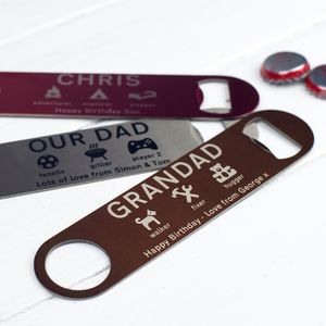 Personalised Bottle Opener - for young men