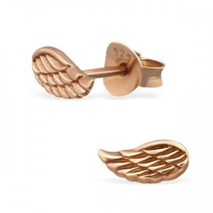 Rose Gold Angel Wing Earrings - earrings