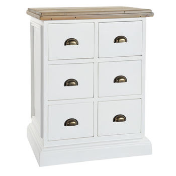 French Country Six Drawer Chest