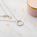 Personalised Diamond 9ct Mini Message Necklace