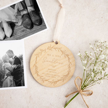 Wedding Day Keepsake Gift Wooden Decoration