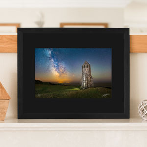 Medieval Lighthouse Black Mounted Limited Edition Print