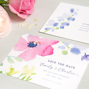 Spring Blooms Save The Date