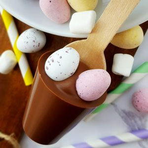 Easter Mini Eggs Hot Chocolate Spoon Gift