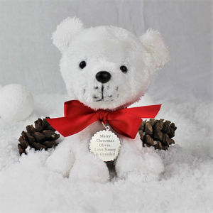 Personalised Paws Polar Bear - teddy bears