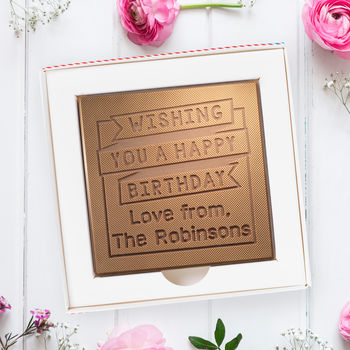 Personalised 'Banner' Birthday Chocolate Card