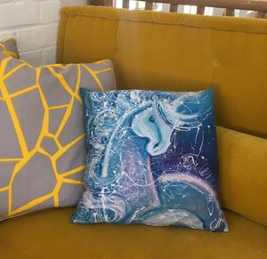 Blue Unicorn Cushion - cushions