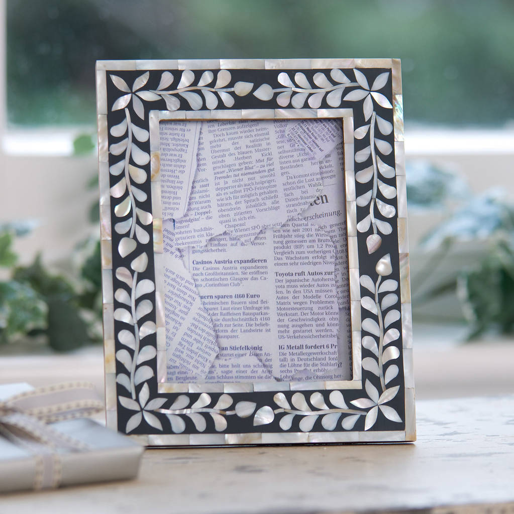 mother of pearl inlay frame by ella james | notonthehighstreet.com