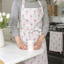 Flamingos Apron And Mug Set