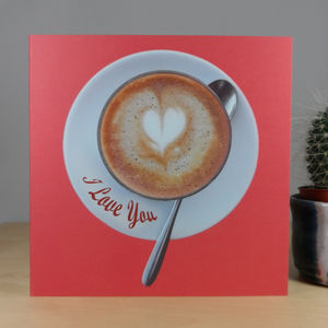 Frothy Love I Love You Frothy Heart Card - love & romance cards