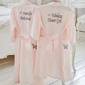 Girl's Personalised Bridesmaid Flower Girl Gown - clothing