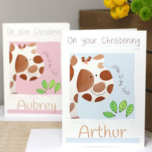 Personalised Jungle Giraffe Gift Card