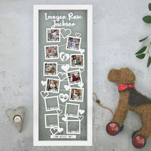 Personalised Baby 12 Month Photo Timeline Papercut