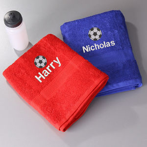 Kids Football Towel - bathroom