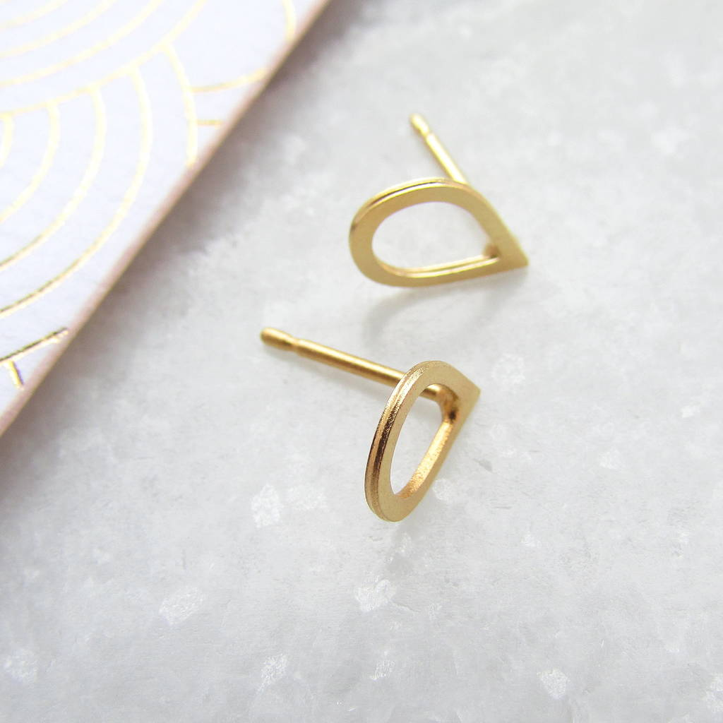 product studs bar simple earring square stainless rbvahfboo staple stud earrings steel handmade delicate rose minimalist gold
