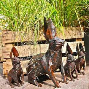 Metal Rabbit Garden Decoration - sculptures & ornaments