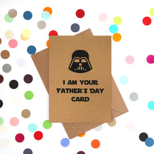 'Darth's Father's Day' Funny Father's Day Card - funny cards