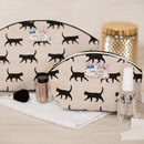 Cat Lovers Black Cats Gift Makeup Toiletry Wash Bag