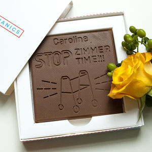 Personalised Happy Birthday 'Zimmertime' Chocolate Card - novelty chocolates