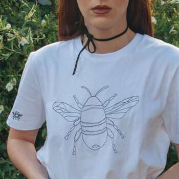 Embroidered Bee T Shirt