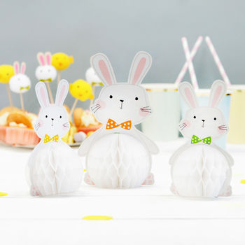 Easter Bunny Honeycomb Table And Egg Hunt Decorations