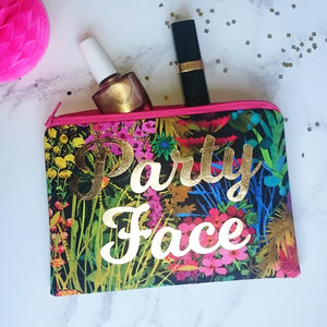 Party Face Tropical Gold Make Up Bag