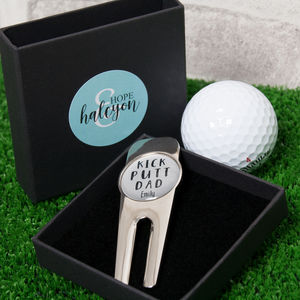 Personalised 'Kick Putt Dad' Golf Divot Tool - new in home