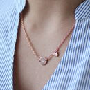 Personalised Rose Gold Necklace With Heart Charm