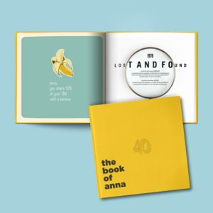 A Personalised 40th Birthday Gift Book
