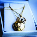 Engraved Initial Locket Necklace