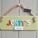 Bedroom Door Plaque For Boys