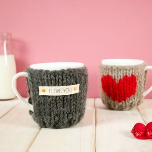 Personalised Heart Cosy And Mug