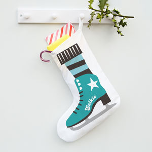 Personalised Ice Skate Stocking