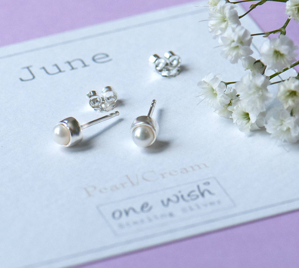 97d031b60 little june birthstone sterling silver studs by grace & valour ...
