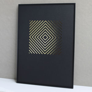 Metallic Diamonds Print