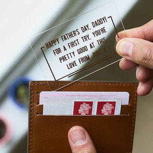 First Father's Day Copper Wallet Card - gifts under £25