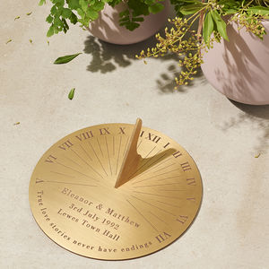 Personalised Copernicus Brass Sundial - 40th birthday gifts
