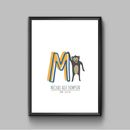 Personalised Animal Alphabet Print Letter