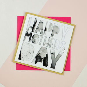 Personalised Photo Mothers Day Card 'Happy Mothers Day'