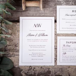 Monogram Wedding Stationery