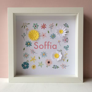 Personalised Baby Girl Print - children's room